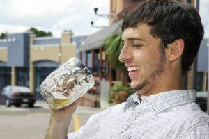 guy enjoying a beer